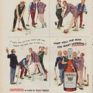"""1950 Imperial Whiskey Ad """"Grandpa's Cronies"""""""