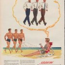 "1950 Arrow Shirts Ad ""A girl on vacation"""