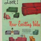 """1950 Kroehler Ad """"New Exciting Values"""""""