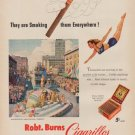 """1950 Robt. Burns Cigarillos Ad """"They are Smoking them"""""""