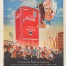 "1950 Coca-Cola Ad ""A welcome host"""