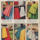 "1952 Cannon Towels Ad ""Cheer your bathroom"""