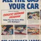 "1952 Mobilgas Ad ""All The Gas Mileage"""