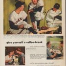 "1952 Pan-American Coffee Bureau Ad ""coffee-break"""