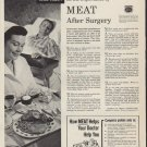 """1952 American Meat Institute Ad """"Meat After Surgery"""""""