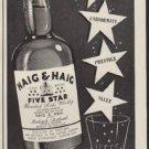 """1952 Haig & Haig Ad """"Stars in your Glass"""""""