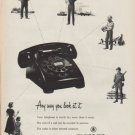 "1952 Bell Telephone System Ad ""Any way you look at it"""