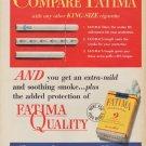"""1952 Fatima Cigarettes Ad """"Compare Fatima"""""""