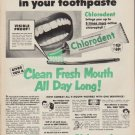 """1952 Chlorodent Toothpaste Ad """"Get active"""""""
