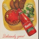 "1952 Hunt's Catsup Ad ""Deliciously yours"""