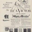 "1952 RCA Victor Ad ""Magic Monitor"""