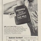 "1952 Mennen Spray Deodorant Ad ""Are You Sure"""