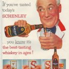 "1952 Schenley Whiskey Ad ""If you've tasted"""