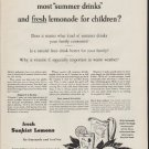 """1954 Sunkist Lemons Ad """"What's the difference"""""""