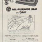 """1954 General Electric Ad """"low-cost room cooling"""""""