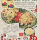 "1954 A&P Stores Ad ""Salad Supper Duet"""