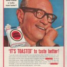 "1954 Lucky Strike Cigarettes Ad ""It's Toasted"""