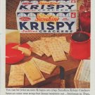 "1961 Sunshine Krispy Crackers Ad ""You can be twice as sure"""