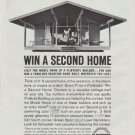 "1961 Flintkote Ad ""Win A Second Home"""