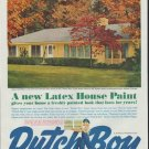"1961 Dutch Boy Paints Ad ""Cape Cod Yellow"""