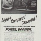 "1961 Lewyt Vacuum Cleaner Ad ""Power Booster"""