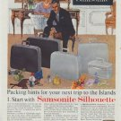 "1961 Samsonite Ad ""Packing hints"""