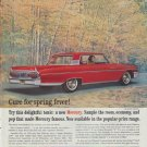 "1961 Ford Mercury Ad ""Cure for spring fever"""