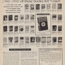 """1961 Book-Of-The-Month-Club Ad """"Any Three"""""""