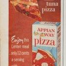"1961 Appian Way Pizza Ad ""deep dish tuna pizza"""