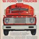 "1961 Ford Trucks Ad ""Broader Warranties ... Greater Durability"""