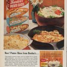 "1961 Borden's Ad ""New ! Potato Slices from Borden's"""