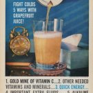 "1961 Florida Citrus Commission Ad ""Fight Colds"""