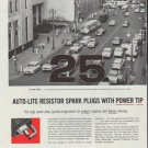 "1958 Auto-Lite Spark Plugs Ad ""Fire Up"""