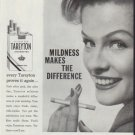 "1958 Tareyton Cigarettes Ad ""Mildness Makes The Difference"""