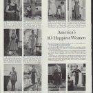 "1958 Stauffer Home Reducing Plan Ad ""10 Happiest Women"""