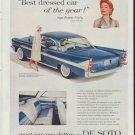 "1958 De Soto Ad ""Best dressed car"""