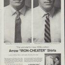"""1958 Arrow Shirts Ad """"Iron-Cheater"""""""