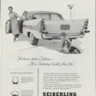 "1958 Seiberling Tires Ad ""No harm done"""