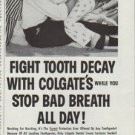 "1958 Colgate Dental Cream Ad ""Fight Tooth Decay"""