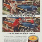 "1958 Du Pont Ad ""Cleaning and waxing"""