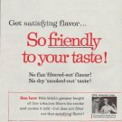 """1958 Pall Mall Cigarettes Ad """"So friendly"""""""