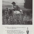 "1958 Champion Spark Plugs Ad ""In tractors"""