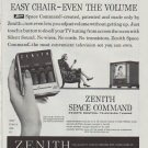 """1958 Zenith TV Ad """"easy chair"""""""