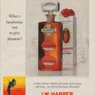"""1963 I.W. Harper Bourbon Ad """"handsome way"""""""
