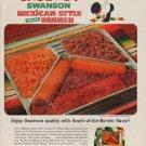 """1963 Swanson Frozen Dinner Ad """"Nuevo !"""""""