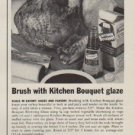 "1963 Kitchen Bouquet Ad ""Most important moment"""