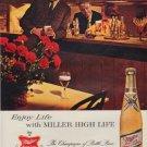 """1963 Miller Beer Ad """"Enjoy Life"""""""