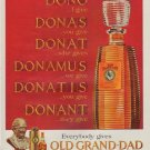 """1963 Old Grand-Dad Ad """"Everybody gives"""""""