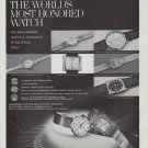 "1965 Longines Watch Ad ""The World's Most Honored Watch"""