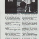 """1965 Christian Children's Fund Ad """"She Needs Your Love"""""""